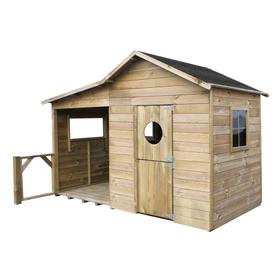 Ijsbeer houten speelhuis
